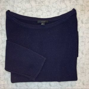 Cos // Navy 3/4 Sleeve Ribbed Sweater Size XS